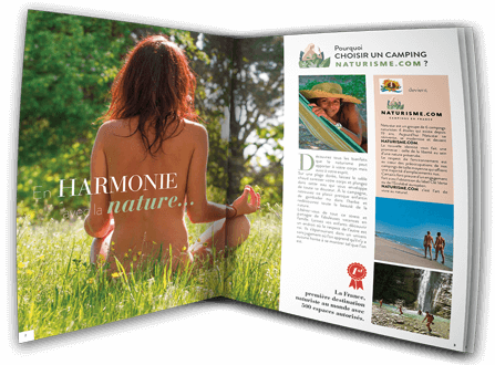 Ask now for the brochure of the Naturisme.com campsites
